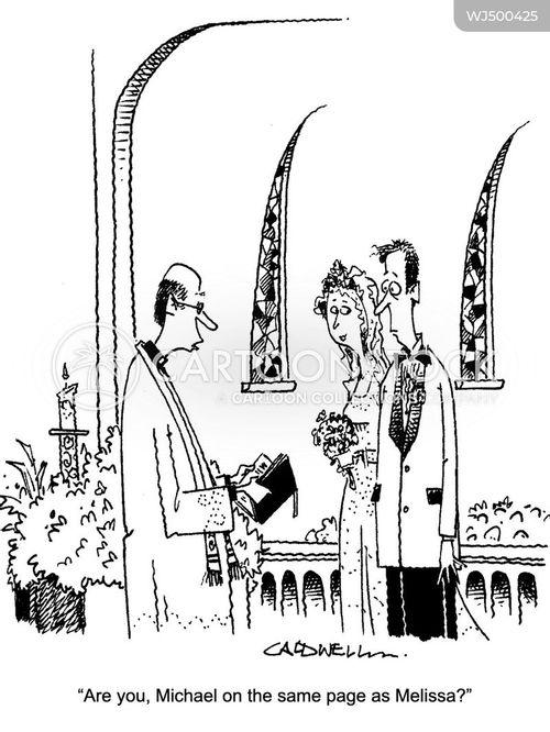 newly weds cartoon