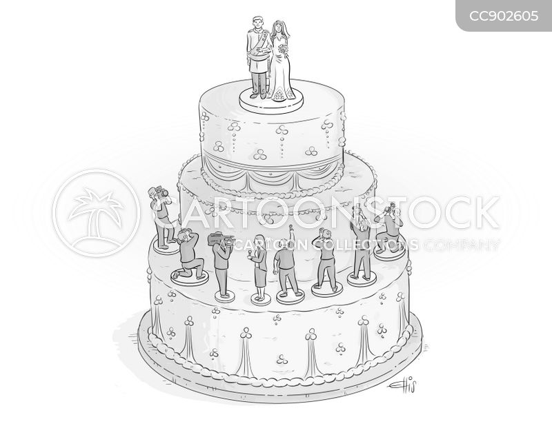 wedding cakes cartoon