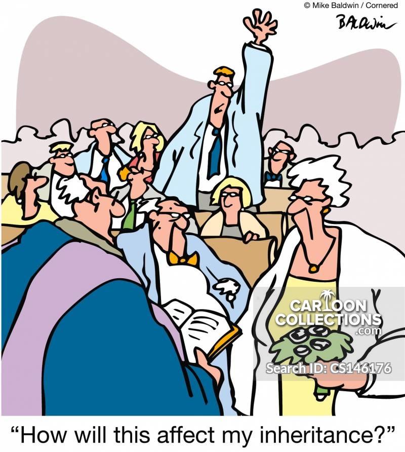 old brides cartoon