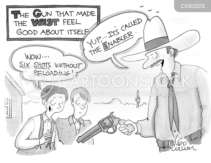 handgun cartoon