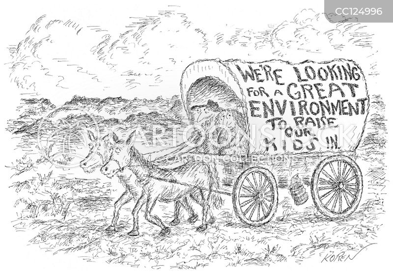 wagon convoy cartoon