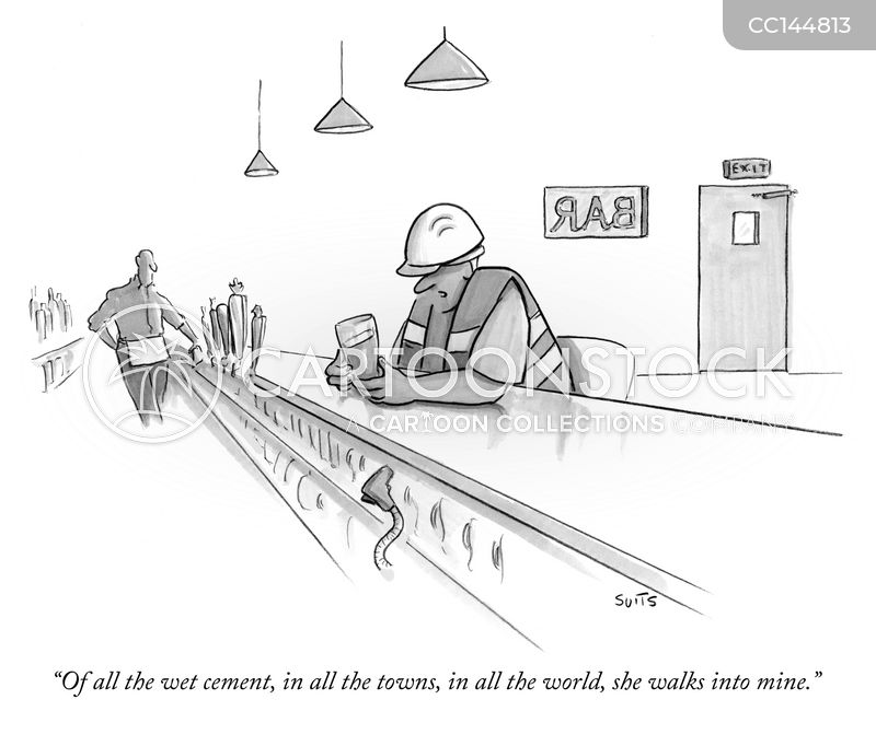 wet cement cartoon