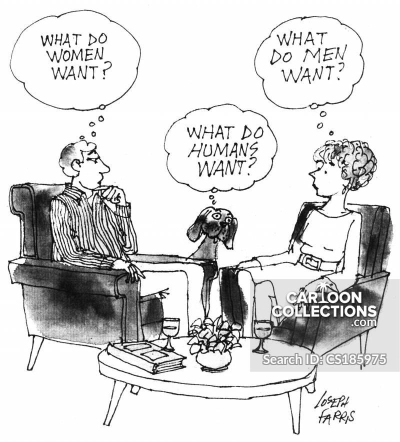 what humans want cartoon