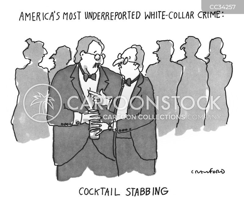 stabbing cartoon