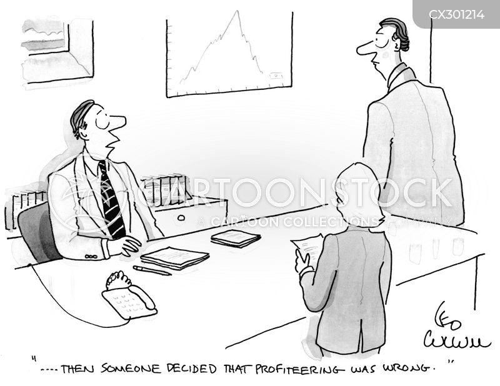 profiteering cartoon