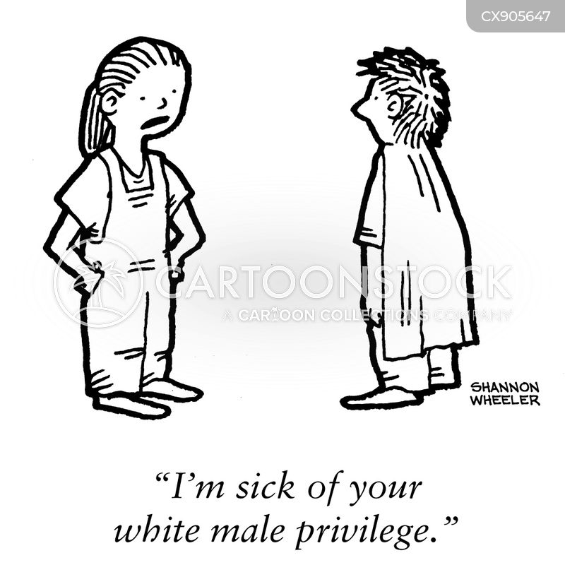 white male privilege cartoon