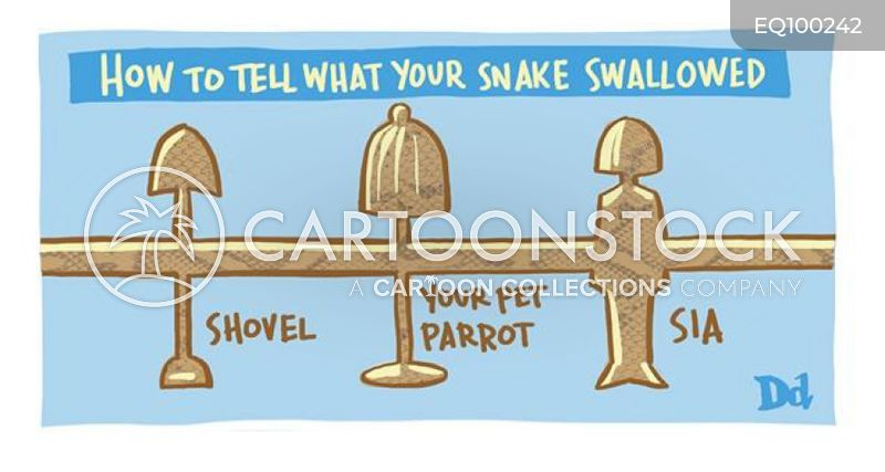 swallowing cartoon