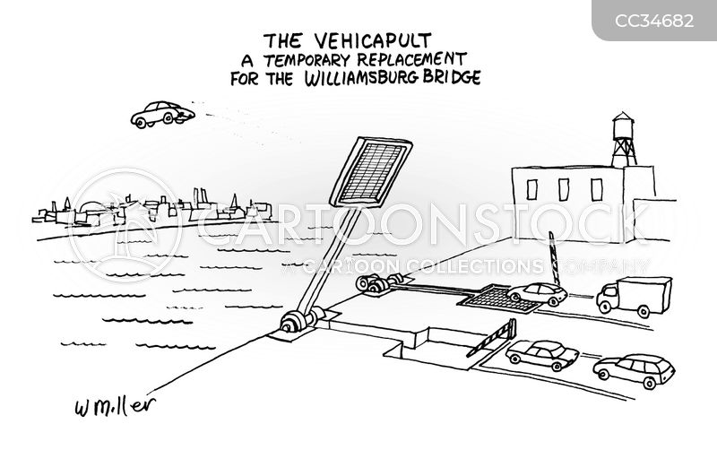 Williamsburg Bridges cartoon