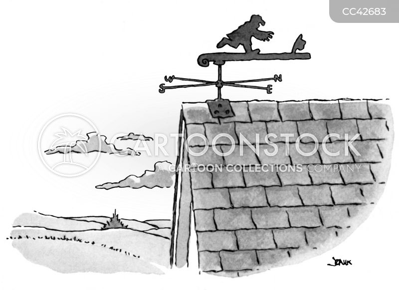 weather vane cartoon