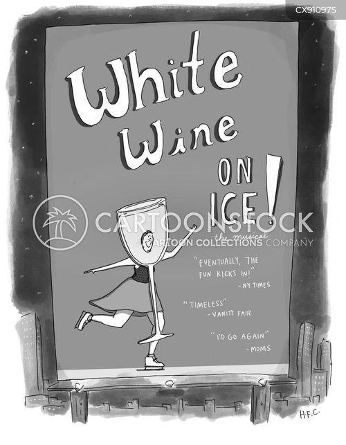 white wine cartoon
