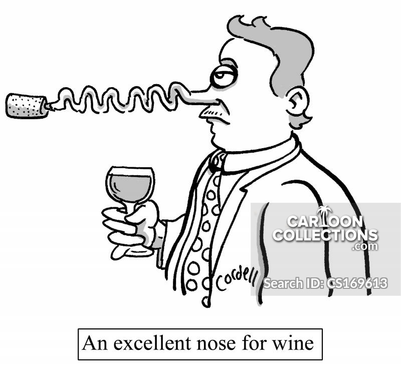 wine buff cartoon
