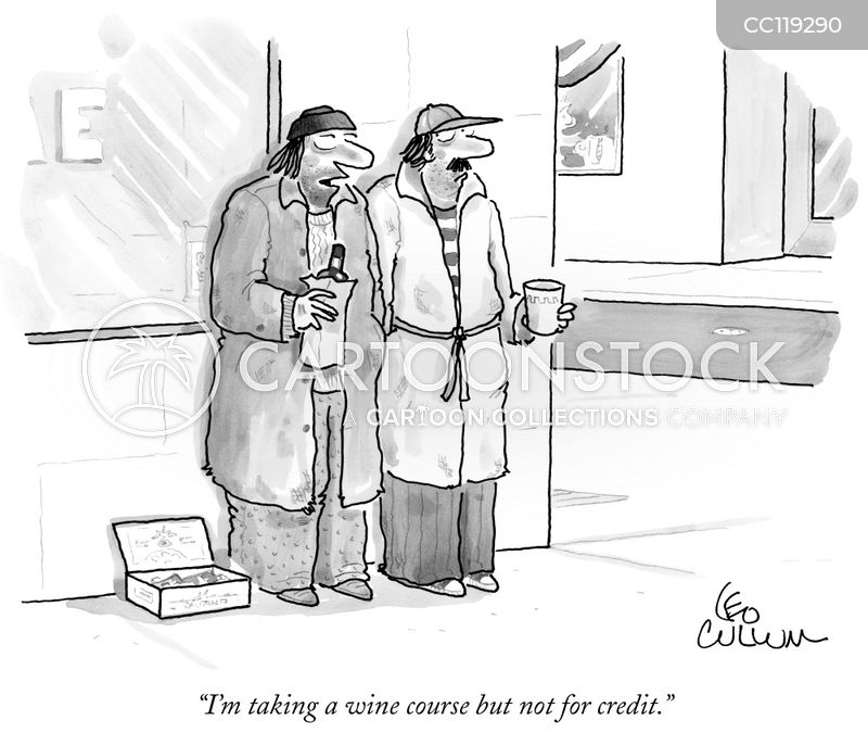 wine courses cartoon