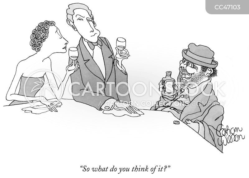 Wine Parties cartoon