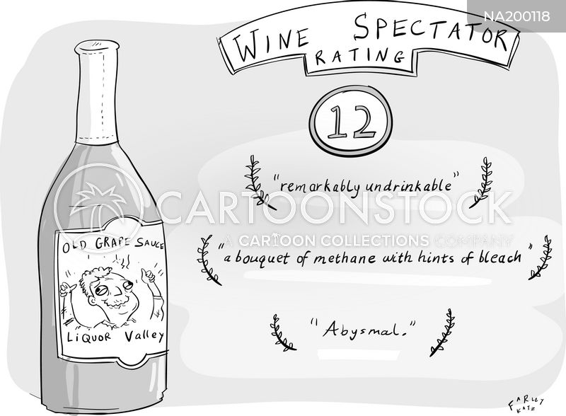 Wine Review cartoon