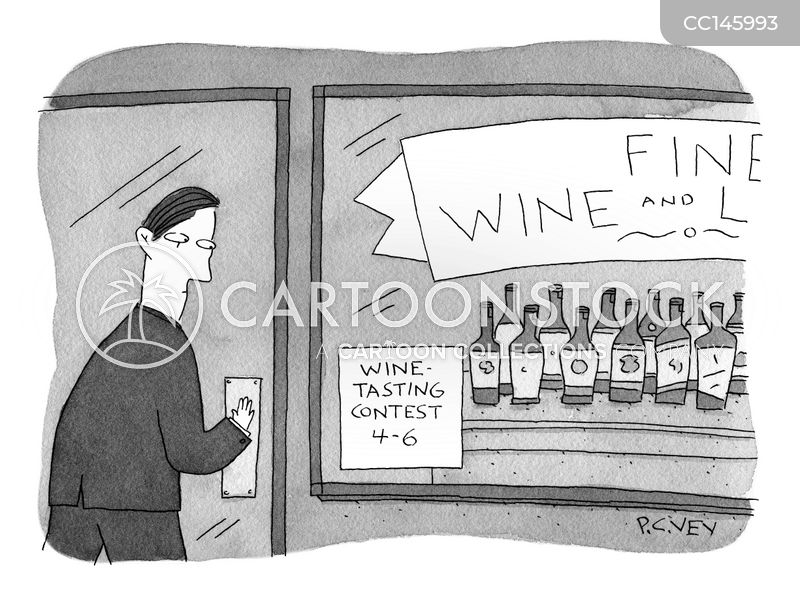 wine tasting event cartoon