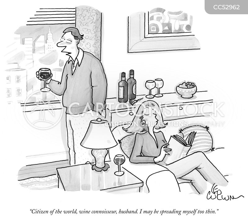 Wine Enthusiast cartoon
