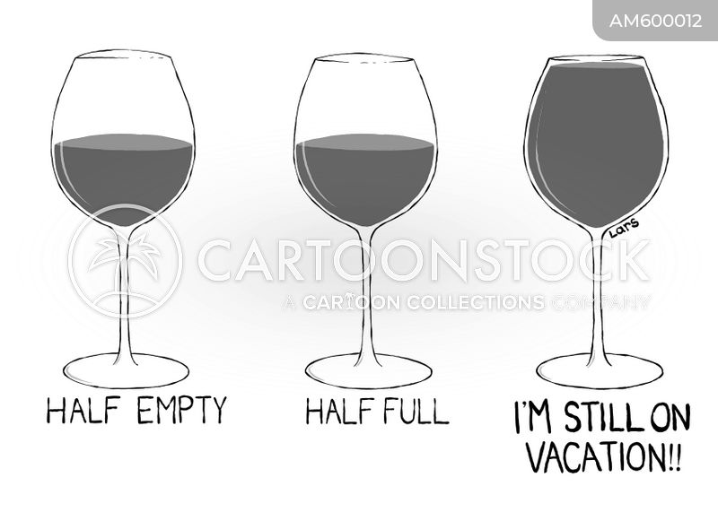 wine glasses cartoon