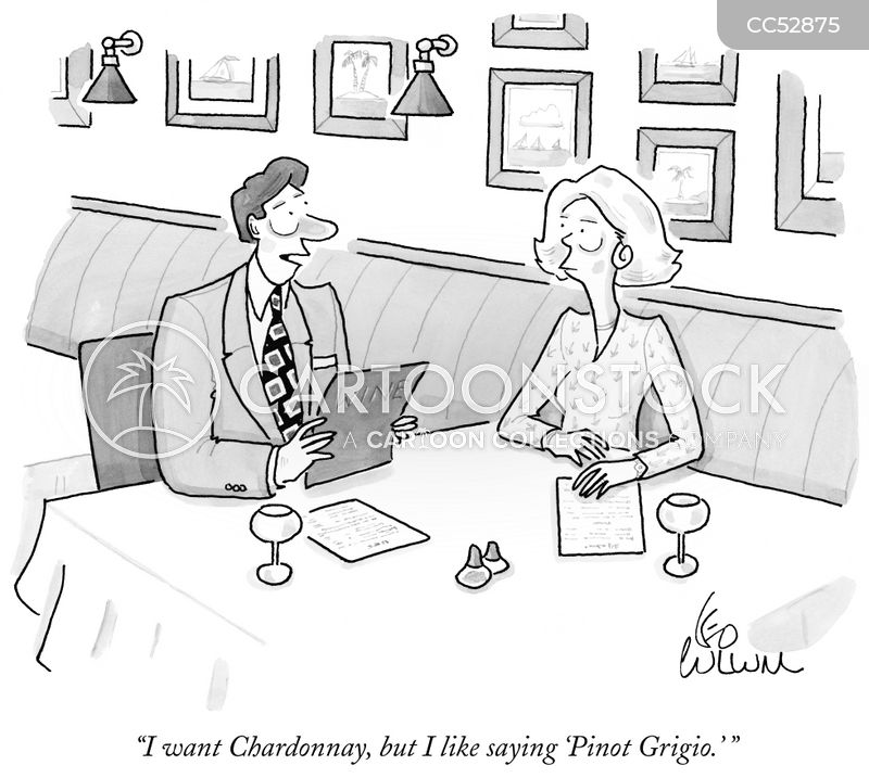 white wine cartoon
