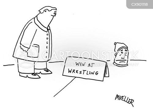 wrestling cartoon