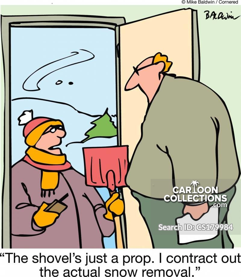 Clearing Snow cartoon