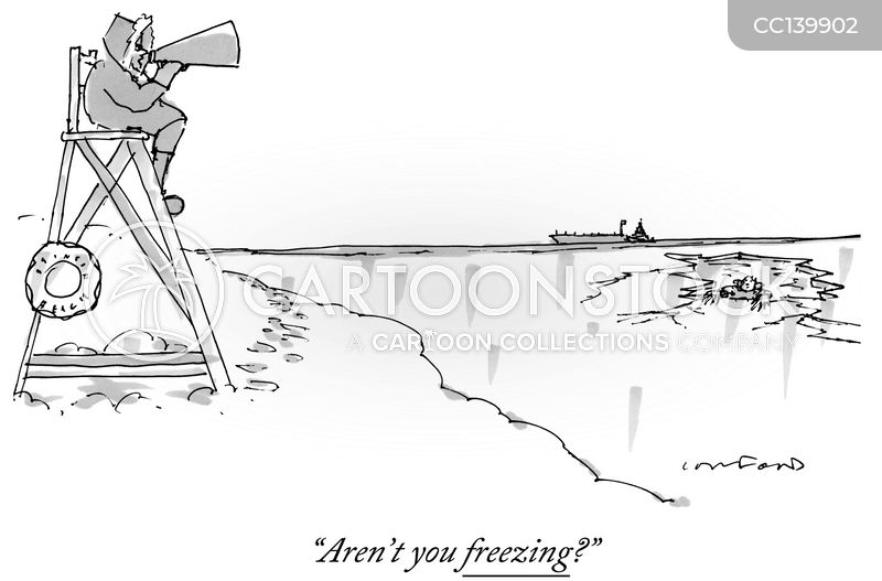 frozen lake cartoon