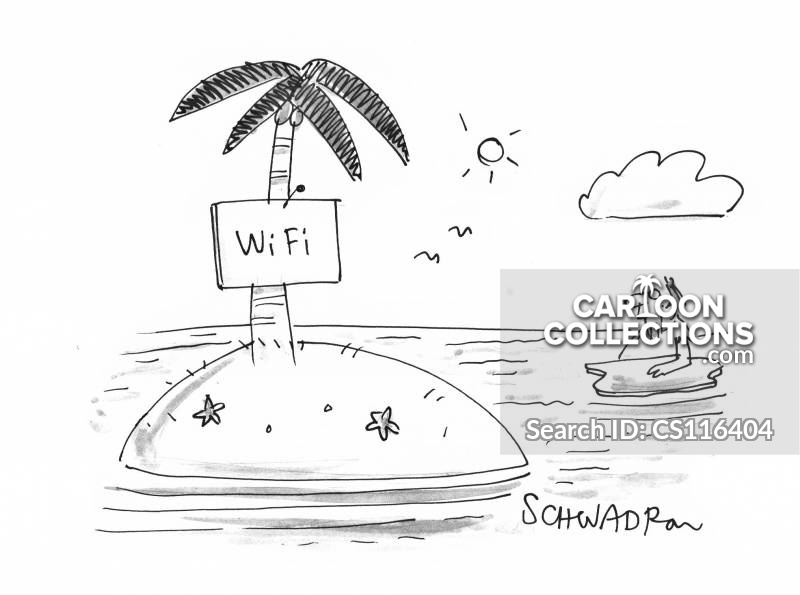 Wireless Hotspots cartoon