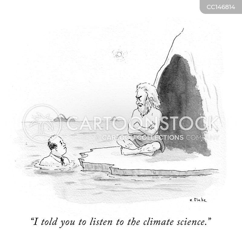 climate change denial cartoon