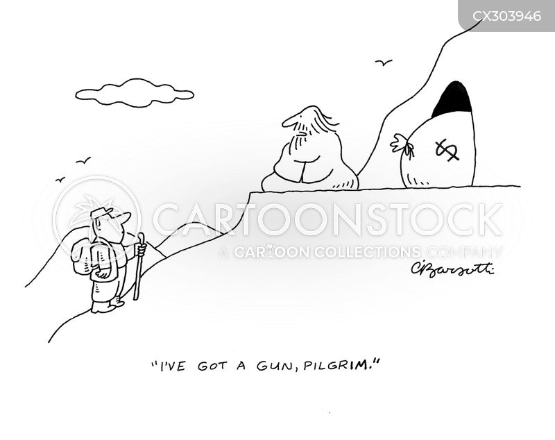 old man on the mountain cartoon