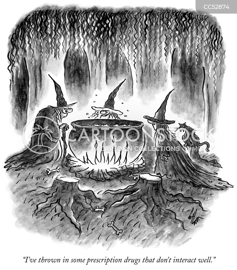 Witch's Cauldron cartoon
