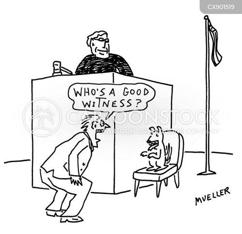witness stand cartoon