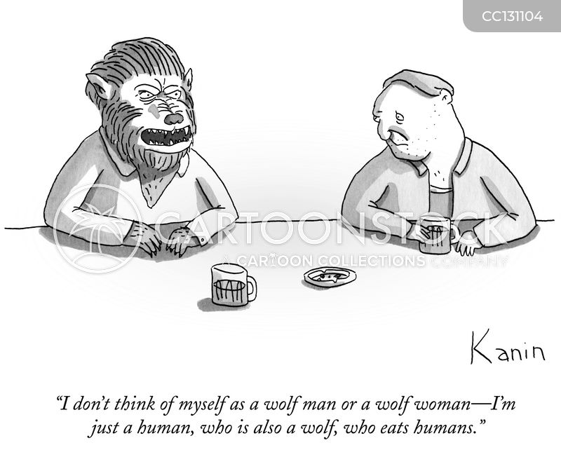 Wolf Man cartoon