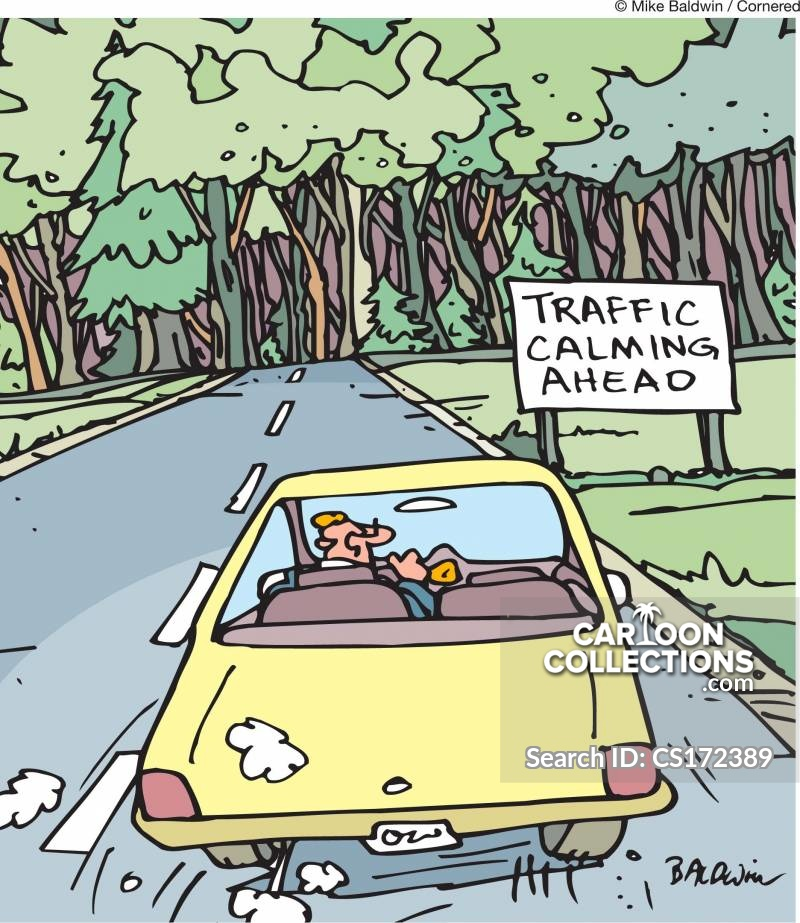 traffic calmer cartoon