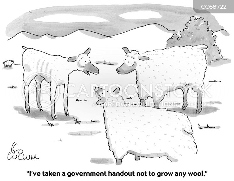government handouts cartoon