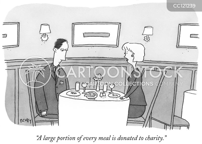 donations cartoon