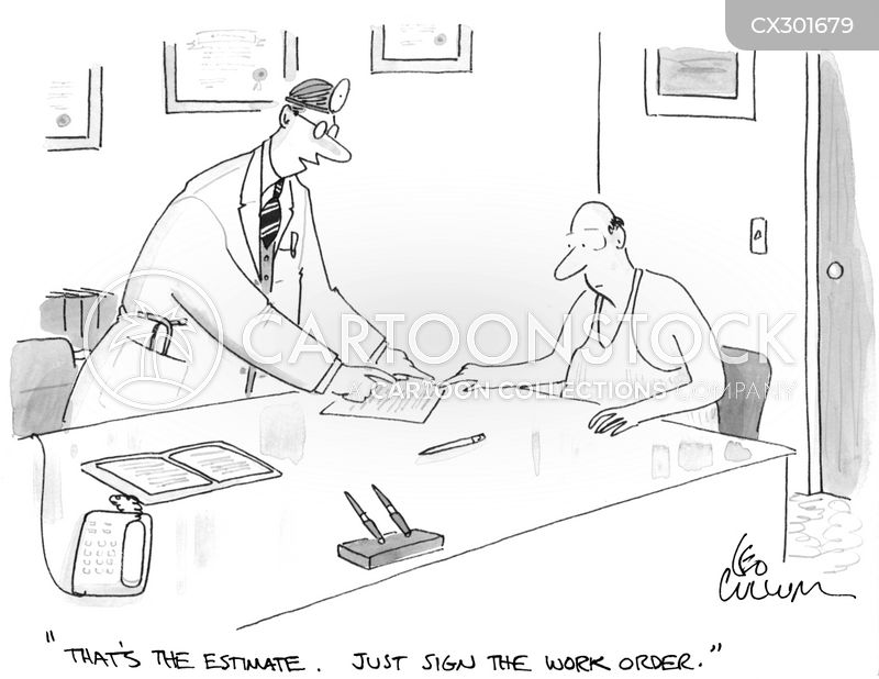 work order cartoon