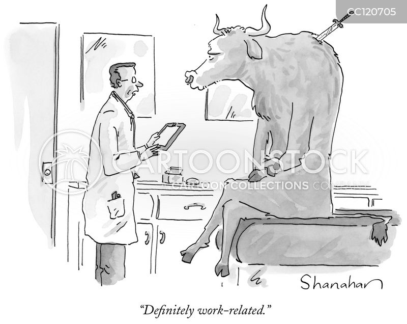 work-related injuries cartoon