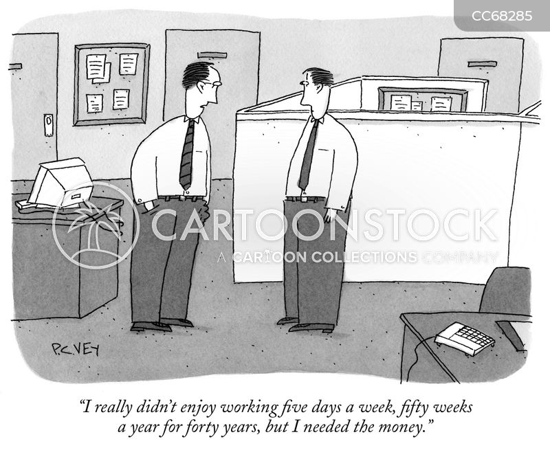 work life cartoon