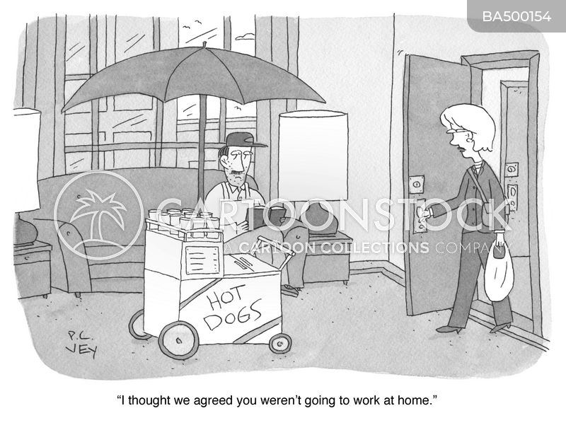 food stands cartoon
