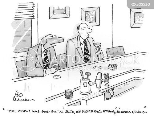 working dog cartoon