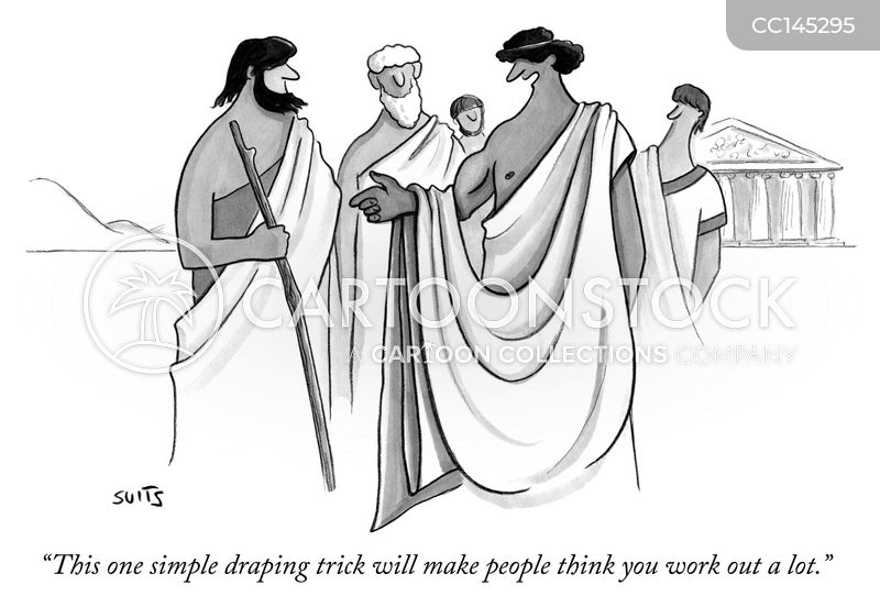 ancient greek cartoon