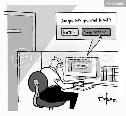 retirement plans cartoon