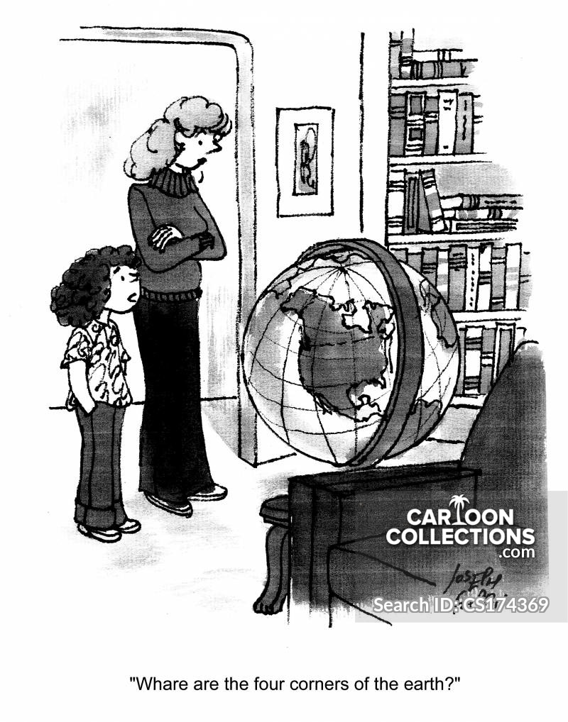 Four Corners Of The Earth Cartoons