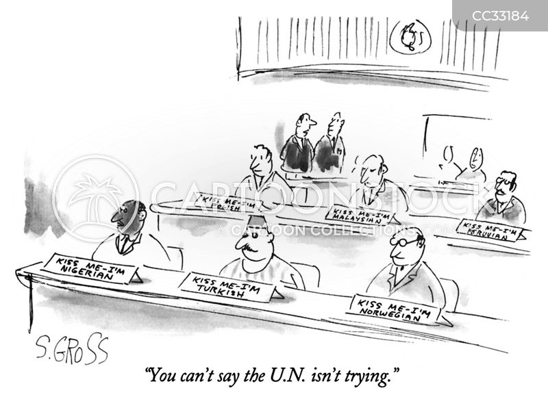 international security cartoon