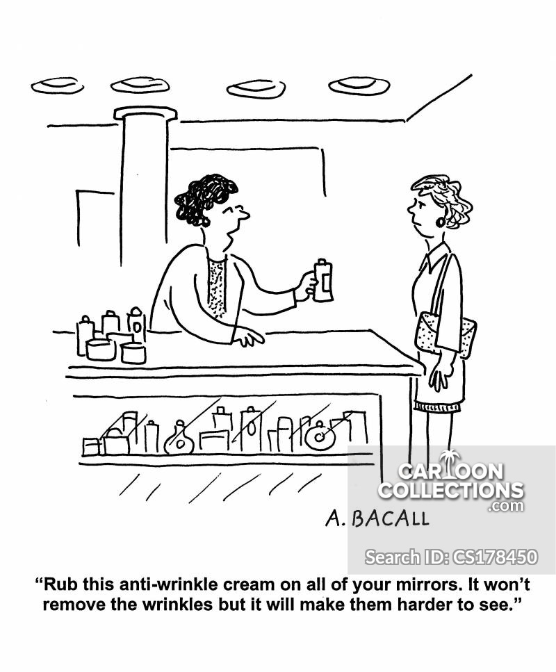 anti-wrinkle cartoon