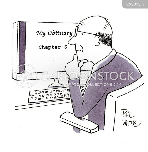 obituaries cartoon