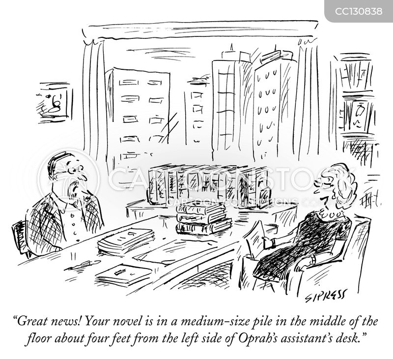 novelist cartoon