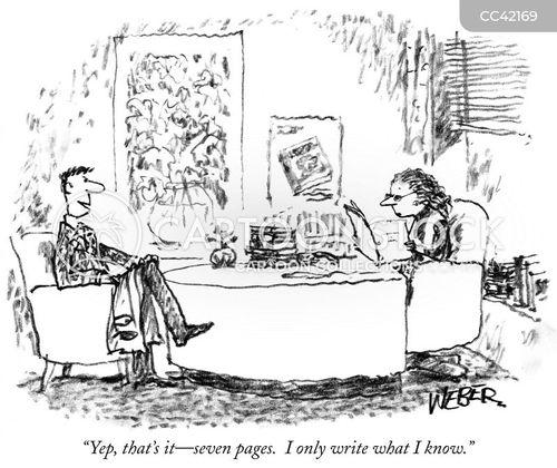 literary agent cartoon