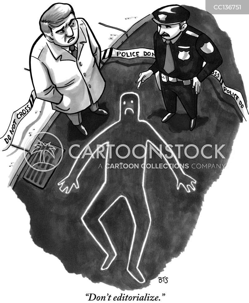 chalk outline cartoon