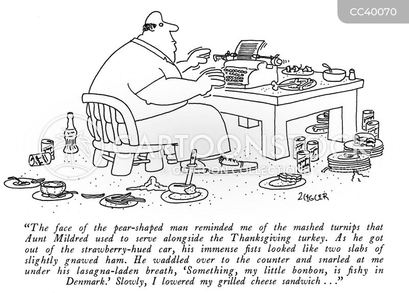 typewriter cartoon