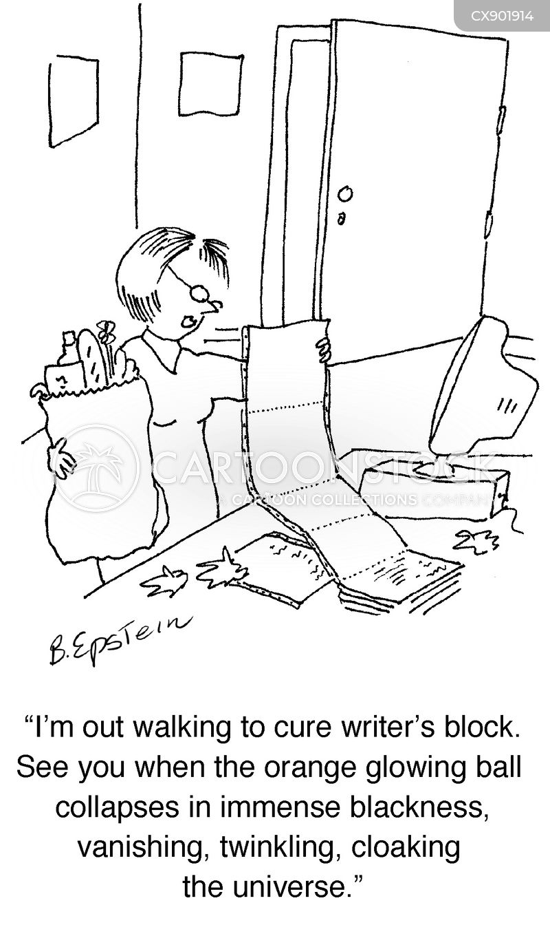 writers block cartoon